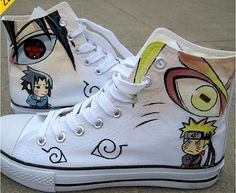 Hand Painted Shoes Naruto Shoes Anime Shoes Hand Painted Shoes,High-top Painted Canvas Shoes