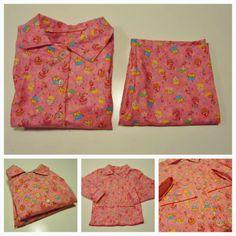 DIY pyjama gemaakt van cupcake patroon stofje roze