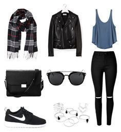 """Untitled #686"" by aatk on Polyvore featuring RVCA, Yves Saint Laurent, Humble Chic, NIKE and Aspinal of London"