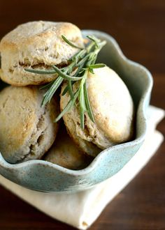 Rosemary & Olive Oil Biscuits! #delicious #yum