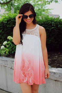 Boho Ombre Fade Babydoll Dress   UOIOnline.com: Women's Clothing Boutique