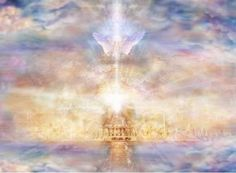 Heaven is a real place where your soul and spirit can live forever. We know heaven is real because of Jesus Christ, who came from heaven . Proof Of Heaven, Heaven Is Real, Heaven And Hell, Heaven On Earth, Art Prophétique, Order Of Angels, Real Angels, Art Visionnaire, My Father's House