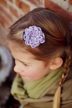 Ravelry: Blossom Hair Clips pattern by Karen E Hooton