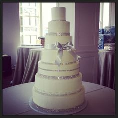 Bling Wedding Theme | diamond theme / Diamond Bling Wedding Cake @Camille Dawn's Cake Co. www ...