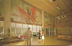Lobby of the original Sky Harbor airport - we went through there several times coming to Phoenix in the 1970s. Long gone now. Posted by Arizona Mike.