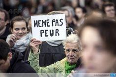 """""""@Guglielminetti: Le visage humain de la France dans la rue. #MarcheRépublicaine #JeSuisCharlie #AFP """""""