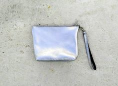 leather purce/leather clutch/leather pouch/small leather bag/bridesmaid gift/cosmetic bag/ grey silver /silver/black/ perla/pink gold/brown/ by aeliasandals on Etsy