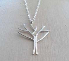 Arbor  Sterling Silver Tree Necklace by hhdesigns on Etsy, $50.00