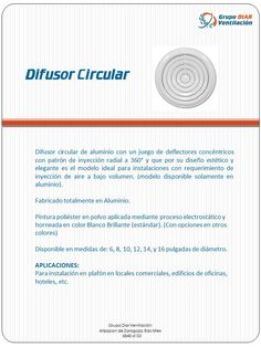 Difusor circular