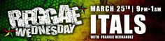 Free Show TONIGHT 3/25 in WAVE Lounge, the Itals with Frankie Hernandez! #humboldtcounty www.bluelakecasino.com