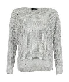 Lurex Longsleeve Silver - Jenterommet Men Sweater, Pullover, Rock, Long Sleeve, Silver, Sweaters, Fashion, Fiber, Moda