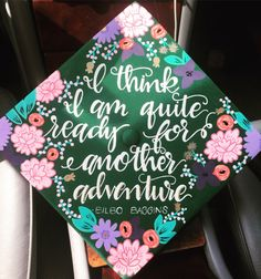 Hand painted graduation caps! Just let me know what you want on it and I will do it. I will send you a proof to make sure it is what you want, and then will go on to paint it.