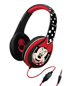 Look at this #zulilyfind! Red & Black Minnie Mouse Over-Ear Headphones by Minnie Mouse #zulilyfinds