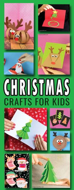 Great christmas crafts for kids to make - reindeer, Santa, Christmas trees and more wonderful crafting ideas. #christmascraftsforkids