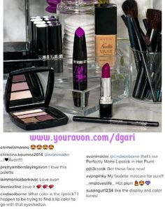 Today's #FOTD is all about a purple pastel eye paired with a bold berry lip! https://www.avon.com/category/makeup/all?rep=dgari  #makeup #shoponline