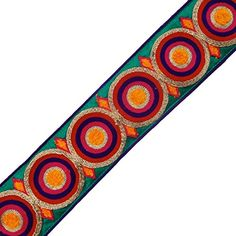 Embroidered Green Geometric Design Trim Sewing Sari Border Tape India By the Yard ibaexports http://www.amazon.com/dp/B00KZBXJXY/ref=cm_sw_r_pi_dp_dO5Nwb1CHNQBF