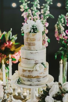 Naked Layer Cake / LANE Real Wedding / Cassie & David Melbourne Rooftop Romance / View Wedding on The LANE