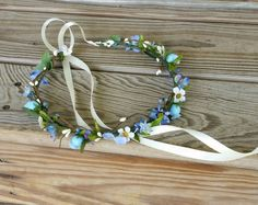 Maid of honor-Hey, I found this really awesome Etsy listing at https://www.etsy.com/listing/293239027/forget-me-nots-blue-flower-crown-idea