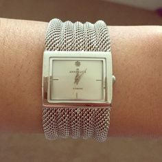 Anne Klein silver meshed watch Great arm candy! (Battery needs to be replaced) Anne Klein Jewelry