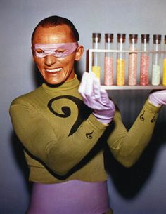 The Riddler aka Frank Gorshin (may be where my unnatural attraction for PURPLE & GREEN started, he was my fave Batman character ;)