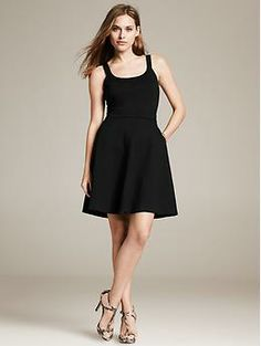 Black Ponte Tank Dress - Dresses This is a perfect warm weather dress. It can be dressed up or down depending on your mood. It's also $110, which isn't that bad.
