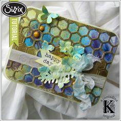Sizzix Video Tutorial | Honeycomb Card by Vivian Keh