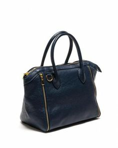 Luisa Vannini Genuine Leather Zip Trim Tote - Totes - Bags at Viomart.com