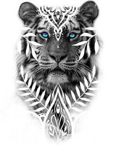 Tiger Tattoo Back, Tiger Tattoo Sleeve, Sleeve Tattoos, Lion Head Tattoos, Body Art Tattoos, Hand Tattoos, Tattoo Sketches, Tattoo Drawings, Flower Cover Up Tattoos