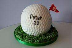 Giant Golf Ball Cake