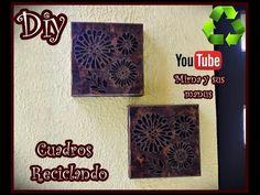 Cuadro decorativo hecho de cartón y periódico. Decorative picture made of cardboard - YouTube