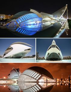 City of Arts and Sciences by Santiago Calatrava in Valencia Spain how I miss this place, need to go back! Chinese Architecture, Futuristic Architecture, Beautiful Architecture, Architecture Details, Landscape Architecture, Architecture Office, Building Structure, Building Design, Contemporary Museum