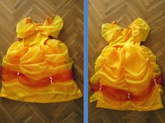 Belle princess dress free pattern and tutorial.  LOTS of photos. French size 4T