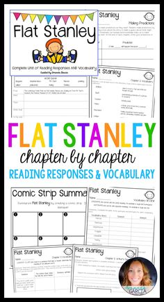Students love Flat Stanley! These reading activities and vocabulary sheets take your readers through each chapter of of the book! The reading responses are aligned to the Common Core, fun, and easy to implement in your elementary classroom! Use them small group, whole group, with reader's notebooks, and in literature circles. Flat Stanley is a great introduction to responding thoughtfully to reading!