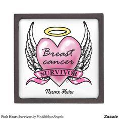 Pink Heart Survivor Premium Gift Boxes