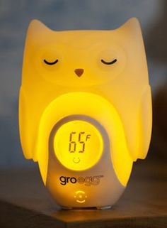 Cool Product Alert! The Gro-egg (from @thegroco) changes color to let you know whether the temp of a room is too low/high/just right. #babygear