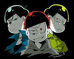 Картинка с тегом «anime, osomatsu, and choromatsu»