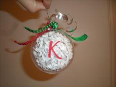 Clear Plastic Ornament Craft Activity   Living Life Crafty: Monogram Ornament