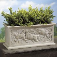 Sculpted Horse Planter from Back In The Saddle