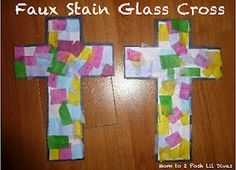 Faux Stain Glass Easter Cross