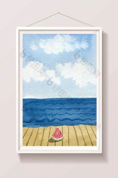 blue fresh watermelon seaside background landscape watercolor hand drawn summer background #pikbest #watercolor #landscape #illustration #psd #freebie #graphicdesign #graphicelements #freedownload #homedecor #walldecor #printable #freeprintable Landscape Illustration, Pattern Illustration, Watercolor Design, Watercolor Landscape, Summer Backgrounds, Watercolors, Free Design, Seaside, Hand Drawn