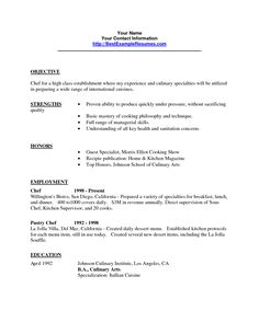 resume objective lines