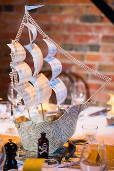 After Pirates of the Caribbean the pirate theme became one of the most popular ideas for weddings and parties. If you are ready to rock this theme on your big day, we have some ideas to get you inspired – from attire to guestbooks! Honeymoon Cruise, Cruise Wedding, Cruise Travel, Pirate Invitations, Mermaid Invitations, Pirate Wedding, Nautical Wedding, Wedding Centerpieces, Wedding Decorations