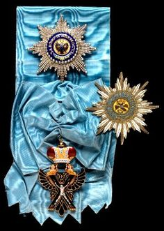 The Russian Order of St. Andrew, which was the highest honor the Tsar could bestow.