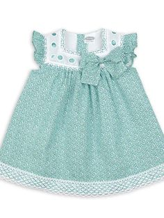 vestido estampado liberty verde rochy verano                                                                                                                                                      Más Kids Outfits Girls, Girl Outfits, Girls Dresses, Baby Boy Dress, Toddler Dress, Baby Dress Patterns, Baby Sewing, Doll Clothes, Kids Fashion