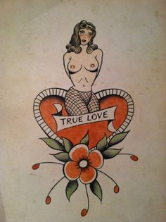 another great Stoney st Clair one Old Tattoos, Pin Up Tattoos, Picture Tattoos, Body Art Tattoos, Vintage Tattoos, Traditional Tattoo Old School, Traditional Tattoo Flash, Tattoo Posters, Pin Up Girl Tattoo