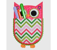 Owl Real Pocket Applique Machine Embroidery by EmbroideryLand