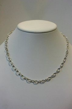 Delicate and beautiful chain by Kay Ferrari- Level 2 jewellery class Small, classic oval links. Lovely! Photo by Wayne Jones