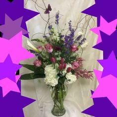 Pretty #purple flowers! Love the butterflies too. #purples...
