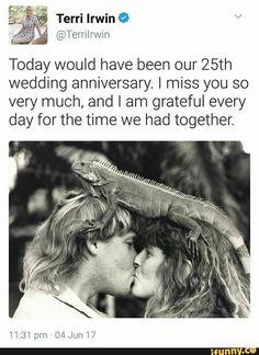 Terri Irwin, Steve Irwin, Irwin Family, Crocodile Hunter, Bindi Irwin, Touching Stories, 25th Wedding Anniversary, Faith In Humanity Restored, Choose Love