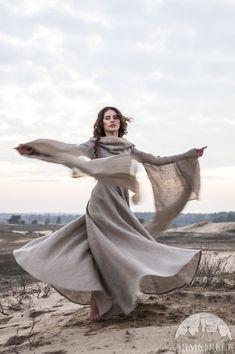 Fantasy Dress Wanderer hooded dress flax dress by armstreet, $249.00